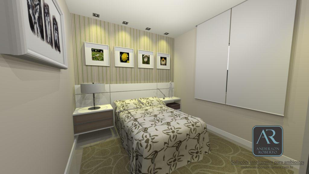 Projeto quarto de solteiro / hóspede