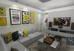 Sala de estar e jantar / Home