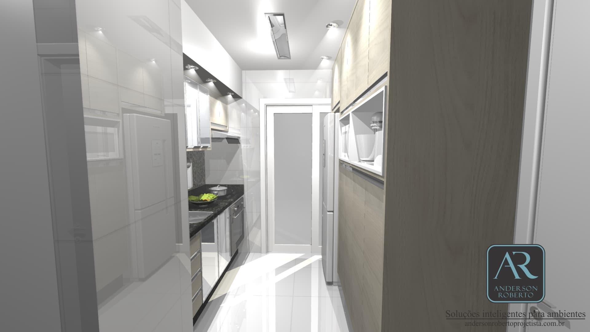 Projeto Em 360 De Uma Cozinha Compacta Por M Muito Charmosa