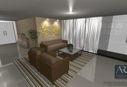 área comum de um condomínio - Living