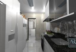 Cozinha e área de serviço transformada e reorganizada